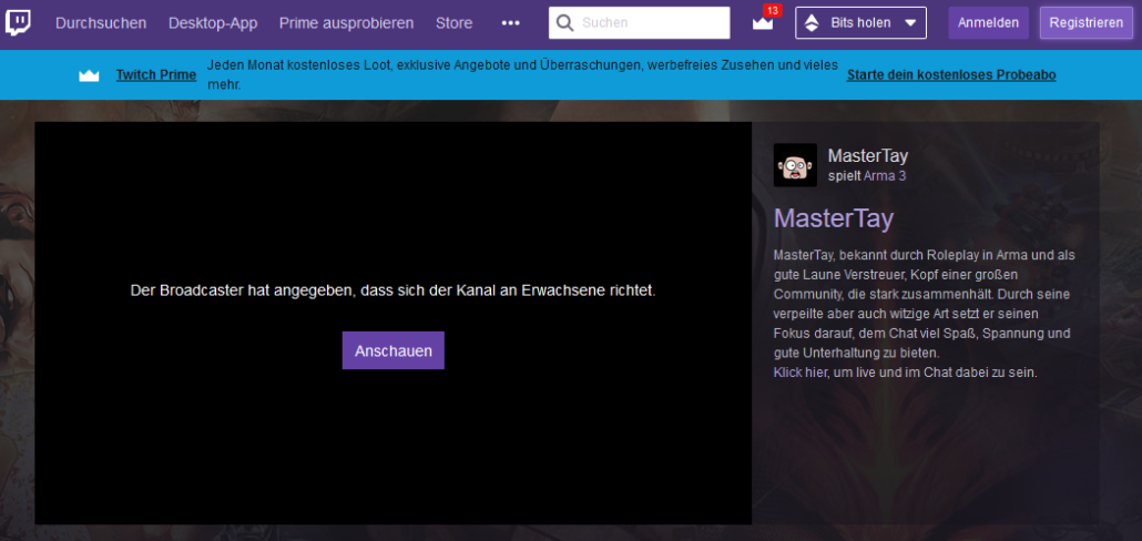 twitch account erstellen